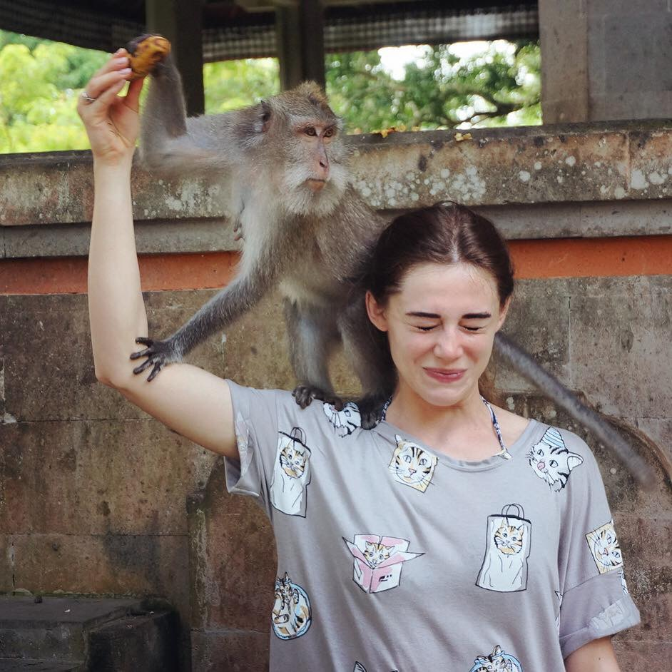 Endonezya Bali Sacred Monkey Forest Sanctuary